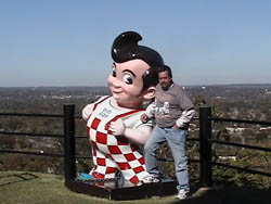 Bobby Schumann with Big Boy